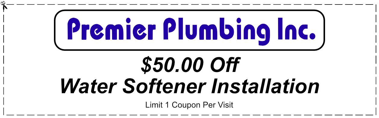 Premier Plumbing Water Softener Installation Coupon