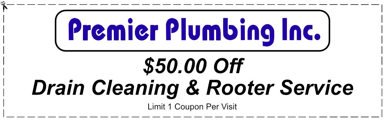 Premier Plumbing Drain Cleaning Coupon