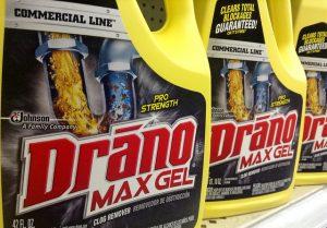 drano liquid chemical drain cleaner