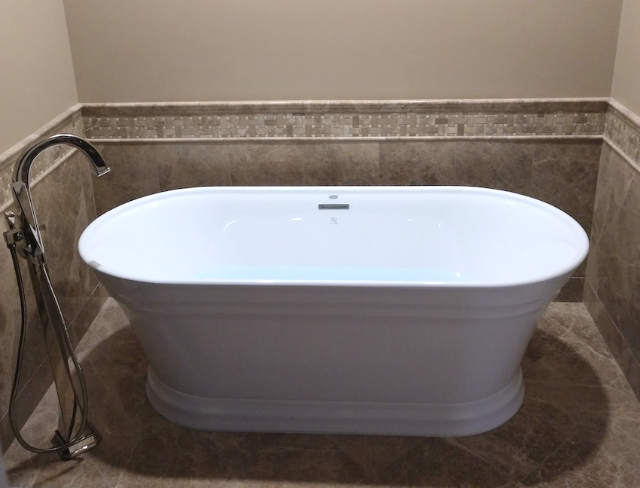modern bathtub installed new in a southeast michigan home near hartland mi